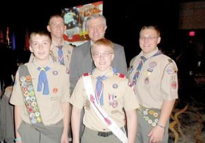 Eagle Scouts with Dr. Bobb