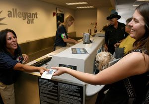 Allegiant Air begins flights to E.V. airport