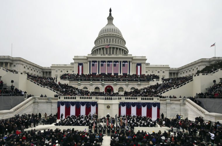 Inaugural Swearing In Obama