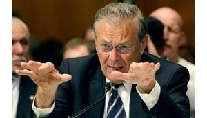 Rumsfeld, Rice say Iraq not at civil war