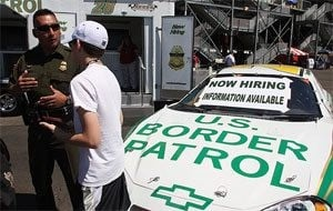 Border Patrol recruits NASCAR fans at PIR