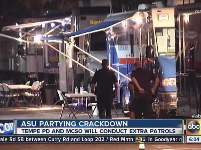 ASU party crackdown