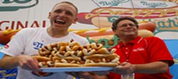 Joey Chestnut, 2010 Hot Dog Eating Contest Champion