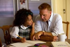 "<p>This photo released by Relativity Media shows Jillian Estell, left, and Kevin Costner, in a scene from Relativity Media's ""Black or White."" (AP Photo/Relativity Media, Tracy Bennett)</p>"
