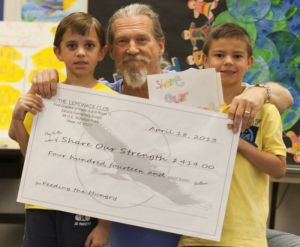 Jeff Bridges at Zaharis Elementary School