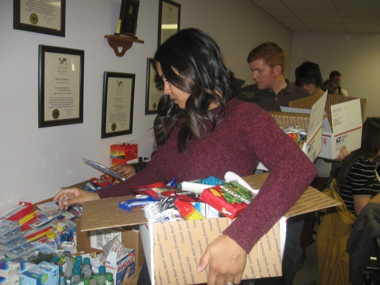 Care packages for the troops