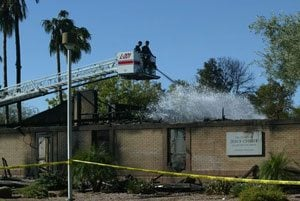Fire destroys Mormon church in Mesa