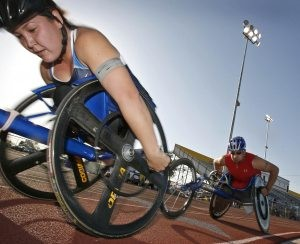 Paralympic athletes enjoy competition