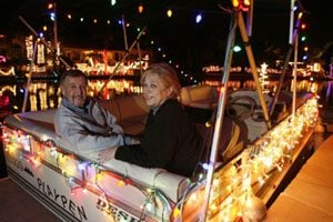 Gilbert Islands showcases lighted boats