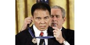 Bush honors Medal of Freedom stars