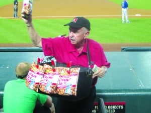 Cracker Jack vendor Ken Carpenter