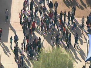 Westwood students hold hands to support principal's decision about punishment