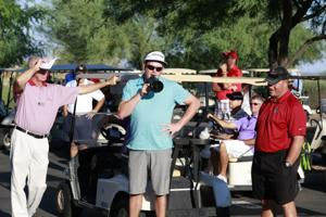 Charlie Beljan, Coach Hamilton, RM Ranch Country Club pro Scott