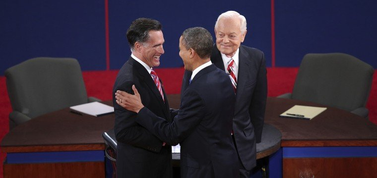 Mitt Romney, Barack Obama, Bob Schieffer