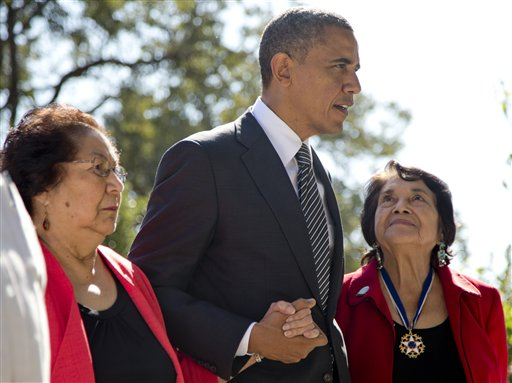 Barack Obama, Helen F. Chavez, Dolores Huerta