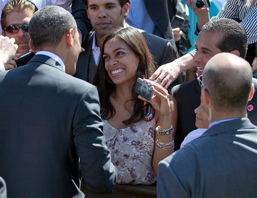 Barack Obama, Rosario Dawson, Antonio Villaraigosa