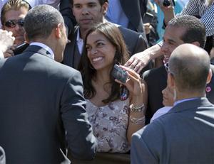 Barack Obama, Rosario Dawson, Antonio Villaraigosa