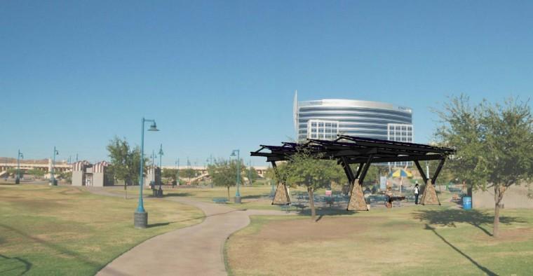 Tempe Beach Park solar panel