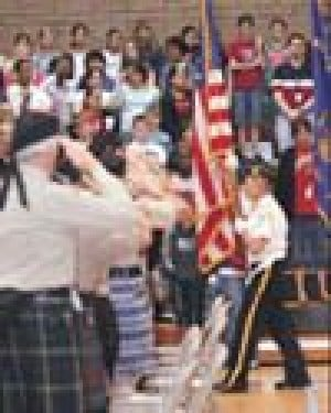Patriotic mood rises in many E.V. schools