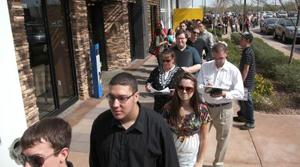 350 apply for work at Gilbert Famous Dave's