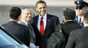 Arizona politicians greet Obama's arrival