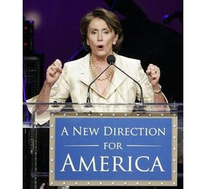 Pelosi hints at denying Bush Iraq funds