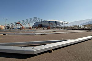 Construction for NFL Experience begins