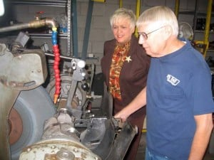 Crankshaft grinder Larry Heebner