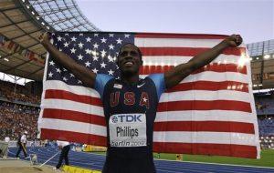 Former Devil Phillips wins men's long jump at worlds