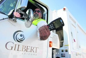 Gilbert goes high-tech with garbage trucks