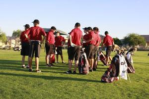 Red Mountain boys golf