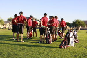 <p>The Red Mountain boys golf team won the 2013 Division I team state championship at Aguila Golf Course in Phoenix.</p>