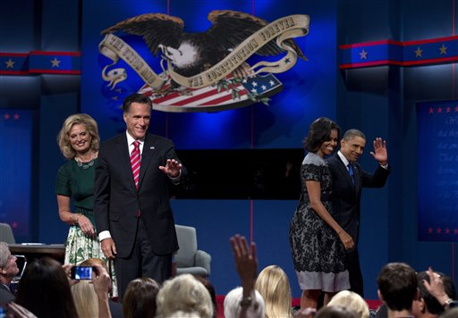 Mitt Romney, Barack Obama, Ann Romney, Michelle Obama