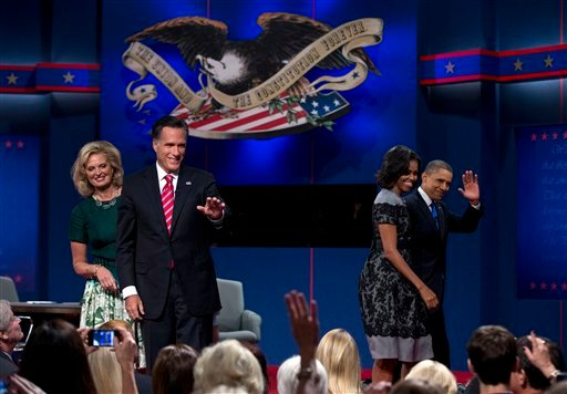 Mitt Romney, Barack Obama, Ann Romney, Michelle Obama