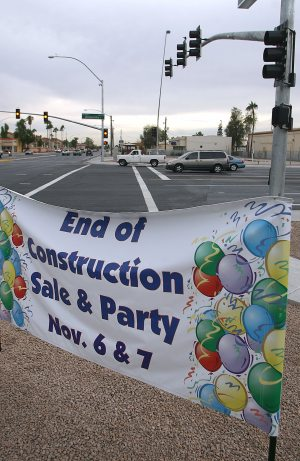 Mesa plaza hails end of road construction