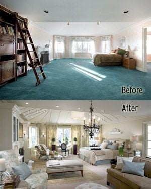 Massive bedroom becomes mom's retreat