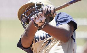 Softball: Highland Vs Desert Vista: Desert Vista's Kiara Kennedy (7) bats during the softball game between Highland and Desert Vista at Highland High School on Saturday, May 3, 2014. - [David Jolkovski/Tribune]