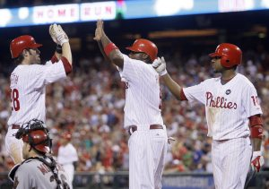 Homer-happy Phillies finish sweep of D-Backs