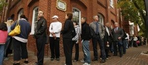 Long lines greet voters as polls are U.S. deluged