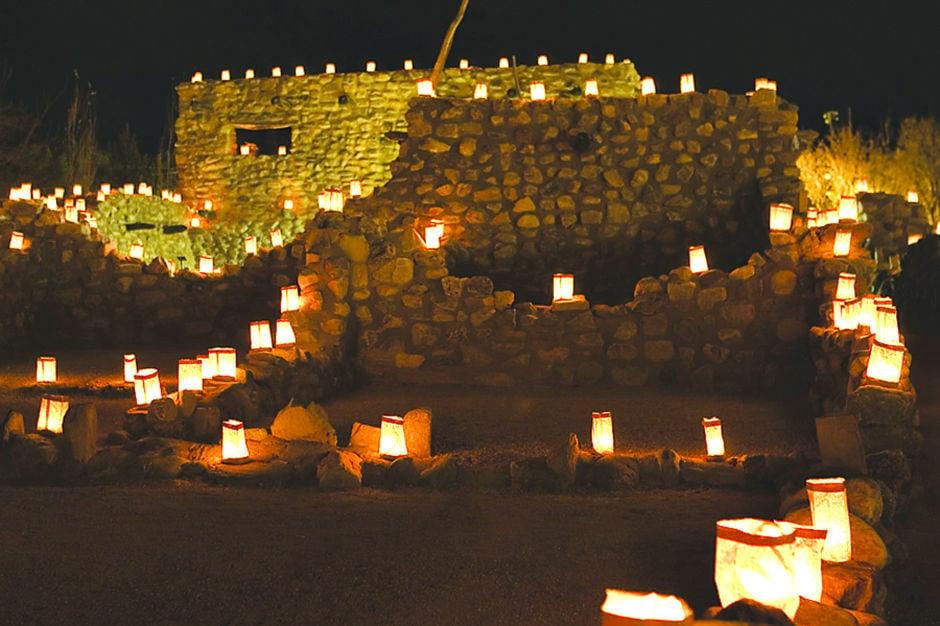 Globe Festival of Lights at Besh-Ba-Gowah Archeological Park