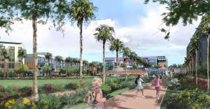 Rendering of Grand Canyon University's future Mesa campus at Eastmark
