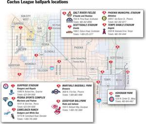 Cactus League Stadium Map 300px wide Home EVTNow
