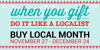Buy Local Month, 11/27 - 12/24/2015