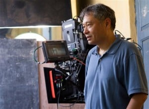 Director Ang Lee on the set of LIFE OF PI