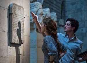 "<p>This image released by Universal Pictures shows Perdita Weeks, left, and Ben Feldman in a scene from ""As Above, So Below.""</p>"