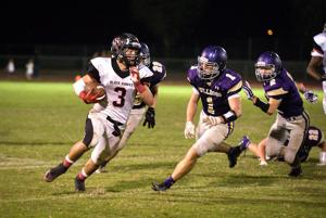 <p>Williams Field High School running back Braedyn  Bushman and his fellow Black Hawks will try to beat a dominant Saguaro team in the Division III finals on Saturday. [Andrew Ybanez/Special to Tribune]</p>
