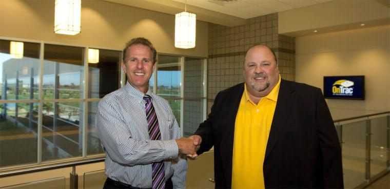 Chandler Mayor Jay Tibshraeny, Rob Humphrey, President of OnTrac