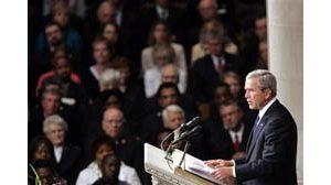 Bush: Rebuilding must address inequality