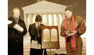 High court hears debate over commandments