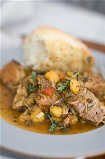 Food American Table Hominy Stew